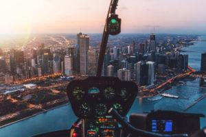 Helikopterflug über Chicago