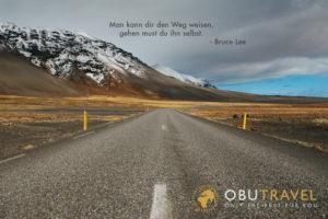 Bruce Lee Spruch Landschaft
