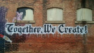 together we create writing