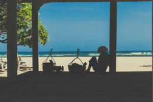 Strandblick von Haus