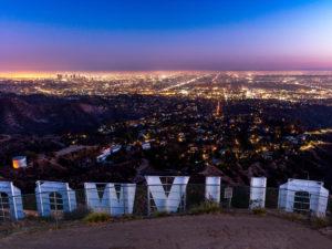 Blick auf LA von Hollywood aus